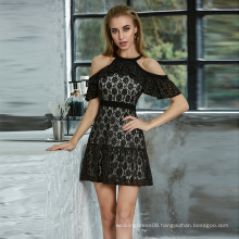 Weixin SHEIN Butterfly Sleeve Jacquard Layered Ruched Detail Mini Skater Sexy Casual Dress