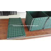 Welded Hesco Blast Barrier with Heavy Geotextile