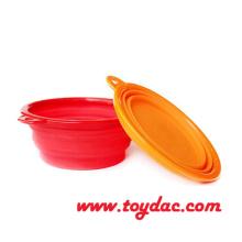 Color Silicone Fold Pet Bowl