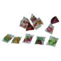 Semi automático triângulo pacote pequeno snack máquina de embalagem de alimentos