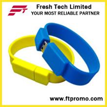 Pulseira de silicone unidade Flash USB (D192)