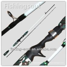 CTR020 2 seção de camuflagem Casting Vara de pesca corajosa