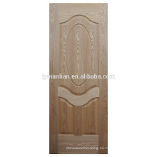 madera natural tablero de la puerta piel de la puerta moldeada pieles madera roble chapa puerta piel