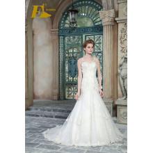 ED Bridal Elegant Lace Appliqued Beaded Floor Length Mermaid Wedding Dresses 2017