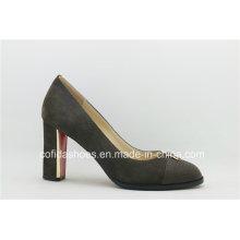 New Grey Leather Sexy High Heels Women Shoe