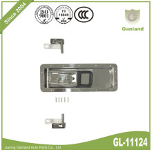 Stainless Steel Polished Refrigerator Recessed Door Lock