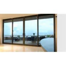 Großzügige Öffnungen Slide Double Glass Aluminium Fenster und Türen