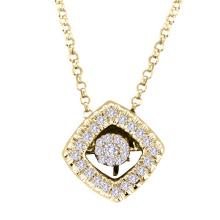 18k Gold Tanzender Diamant-Schmucksache-925 silberne Anhänger-Halskette
