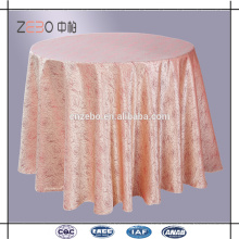100% Polyester Rosette Satin Table Linen Fancy Wedding Table Cloth for Sale