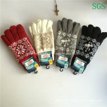 Acrylic Circle Machine Made Knitted Five Finger Glove Factory