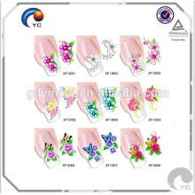 2017 красочные мода ногтей наклейки кожи manufactred в Китае