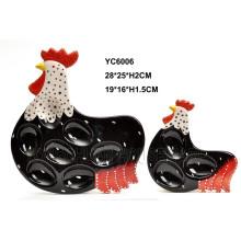 Dessert à oeufs en céramique Design de coq