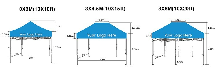 Promotion customized trade show outdoor canopy tent