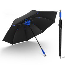 27 Inch Car Logo Full Fiber Business Long Handle Advertising Golf Umbrella Custom Logo