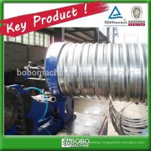 Spiral corrugated posttension pipe forming machine