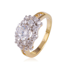 Xuping Hot Selling Luxury Multicolor Ring with White CZ Stone