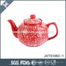 Pot de thé en céramique chinois peint à la main 6cup
