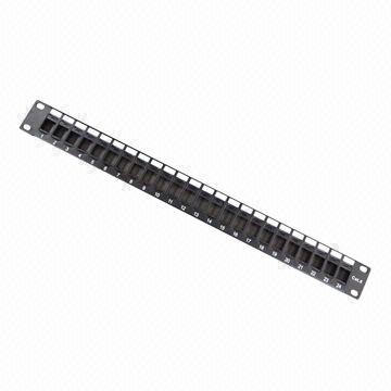 UTP 24-Port Blank Patch Panel Available CAT6 or Cat5e