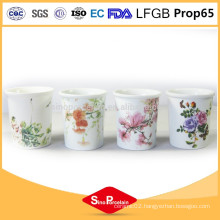 Fashion printed custom logo candle holders ceramic valentine's day candle holders