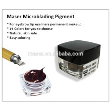 Sourcils maquillage permanent sourcils tatouage encre pigment crème pâte pour microblading