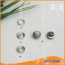 Pearl Cap Five Paw Snap Button MPC1008