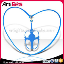 Fashion mobile phone accessory blue silicone cell phone holder hanging