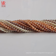 5-6mm Mixed Color Rice Shape Freshwater Pearl Strand