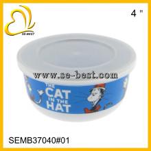 5 шт меламин чаша с крышкой наборы с индивидуальным дизайном печать