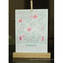 Neue Entwurfs-Gewohnheits-Pappfaltblätter Dest Calendar Printing