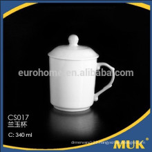 china supplier wholesale white round porcelain tea mug