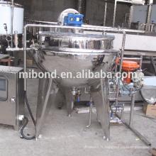 Machine de bouilloire de cuisson à double enveloppe de vapeur électrique industrielle 50Lt-500Lt avec le mélangeur d'agitateur