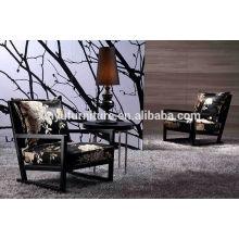 Unique design hotel armchair in fabric cover F05