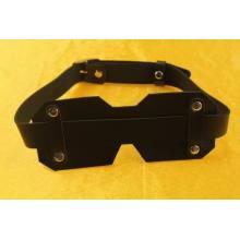 Black Leather Snap Fastener Design Eye Mask
