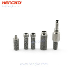 custom 30 40 60 microns sintered porous powder metal inline air filter  ( cone cup disc ) for oxygen intake