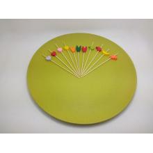 Brocheta de fruta de bambú natural colorido / palillo / selección (BC-BS1004)