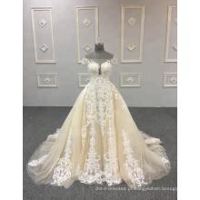 Mais recente elástico vestido de noiva sexy sheer lace voltar vestido de novia vestidos de casamento de espanha