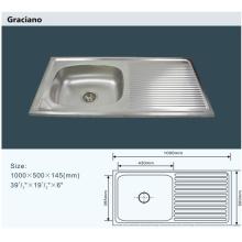 Venta al por mayor Cuarto de baño WC Cuarto de lavado de mano de acero inoxidable con drenaje