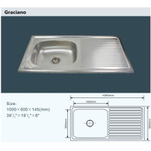 Wholesale Kitchen Bathroom Toilet Stainless Steel Hand Wash Basin with Drainboard