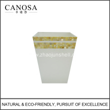 Star Hotels Golden Mother of Pearl Trash Bin