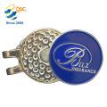 La mode imprimée par logo fait sur commande et agrafe élégante de chapeau de golf en métal de conception avec l'émail