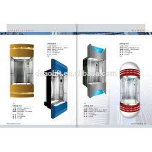 Luxus-Sightseeing Aufzug mit runder Kabine Panorama-Aufzug