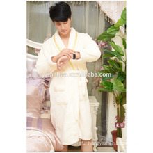 100% Polyester Cotton couples hotel knee length bathrobe From China