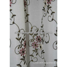 100% polyester embroidery fabric curtain