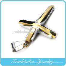 Colgante único del collar de la joyería del campo a través del acero inoxidable del diseño para la venta en la tienda de Internetional