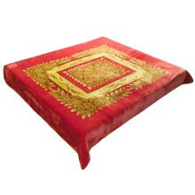 Cor dourada popular flor impressão ar condicionado cobertor