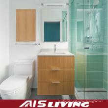 Furnier-Badezimmer-Kabinett-kleine Eitelkeit (AIS-B019)