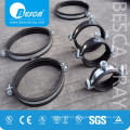 Besca Manufacture Hardware Industrial Pipe Clamps With Rubber Suppliers