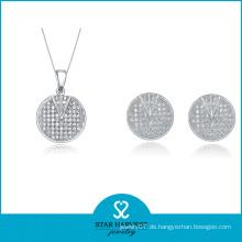 Benutzerdefinierte Micro Pave Perle Frauen Anccessary Silberschmuck (J-0003)