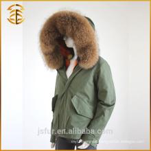 New Style Custom Cheap Women Lining Jacket Long Style Fur Parka