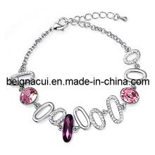 Sw Elements Crystal Rose Color Fresh Handmade Bracelet 2013
